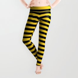 Small Black and Yellow Honey Bee Stripes Leggings