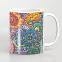 community Mugs featuring Community Garden by Nita Bond