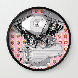 Portuguese Biker Collage for the ladies. Wall Clock