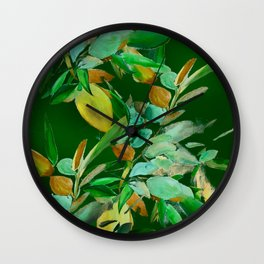 Evening Leaves Wall Clock