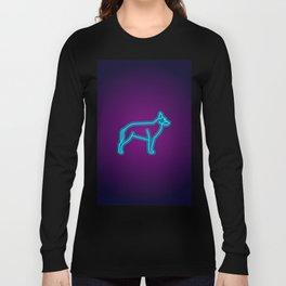 NEON GERMAN SHEPHERD DOG Long Sleeve T-shirt