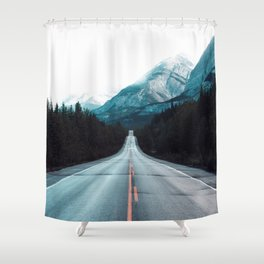 Highway Mountains Shower Curtain
