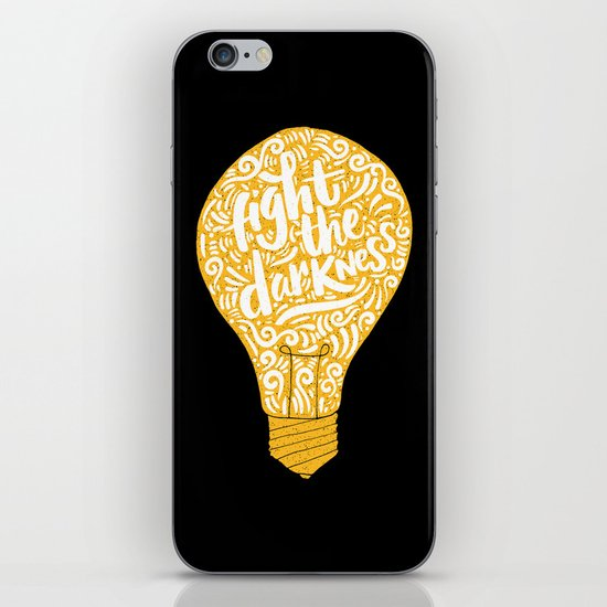 fight the darkness iPhone & iPod Skin