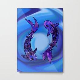 Koi Yin-Yang (V2) Metal Print