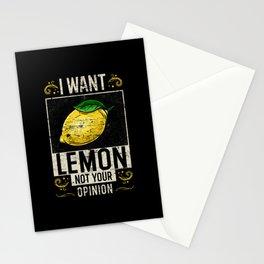 Lemon Saying Funny Stationery Cards