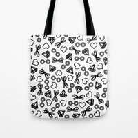 marina and the diamonds Tote Bags featuring Marina by Kayla Nicole