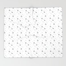boats subtle pattern Throw Blanket