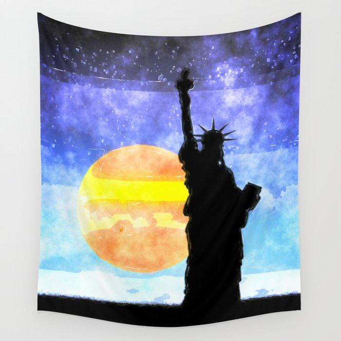 Majestic Lady Liberty Wall Tapestry