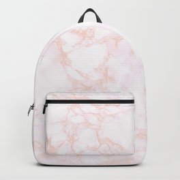 blush marble Backpack