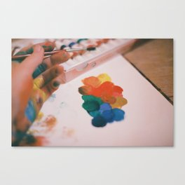 color stains Canvas Print