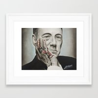frank underwood Framed Art Prints featuring Frank Underwood, House of Cards by Arthur Volper