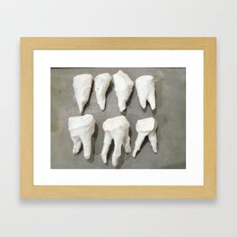 Teeth Framed Art Print