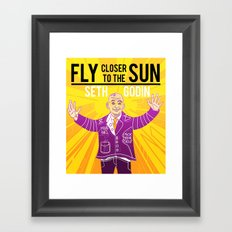 Fly closer to the sun Framed Art Print