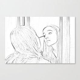 Makeup Canvas Print