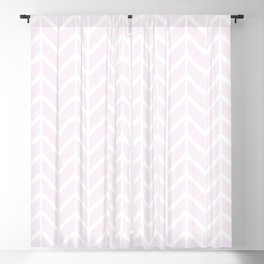 2019 Color: Pink Cream in Chevron Blackout Curtain