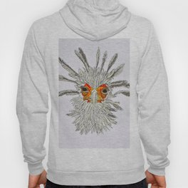 bird with white feathers Hoody