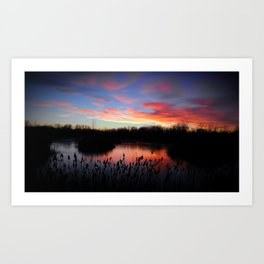 Marsh Sunset Art Print