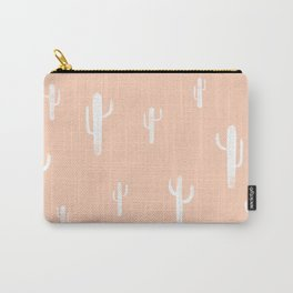 cactus print- peach/white Carry-All Pouch