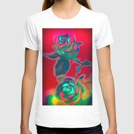 Neon roses T-shirt