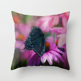 Spicey Swallowtail Butterfly Throw Pillow