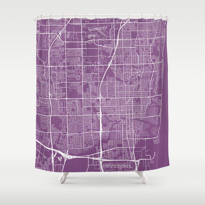 Fort Lauderdale Map, USA - Purple Shower Curtain