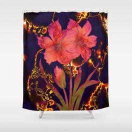 luminous amaryllis Shower Curtain
