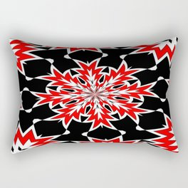 Bizarre Red Black and White Pattern 2 Rectangular Pillow