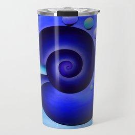 Escanissimera - endlessly limited blue spiral snail Travel Mug
