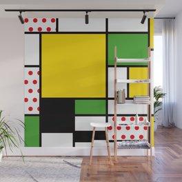 Mondrian – Bycicle Wall Mural