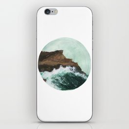 Crashing Waves on a cliff iPhone Skin