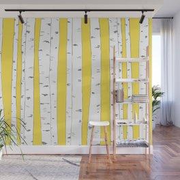 Aspen Forest - Yellow Wall Mural