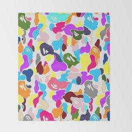 B APE colorful pattern Throw Blanket