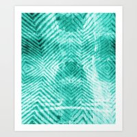 tie dye Art Prints featuring Tie Dye  by Jenna Davis Designs