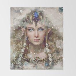 Epic Princess Zelda from Legend of Zelda Painting Throw Blanket