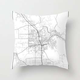 Minimal City Maps - Map Of Santa Rosa, California, United States Throw Pillow