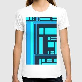 Blue Line Black Line T-shirt