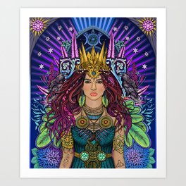 Queen Mother Goddess Art Print