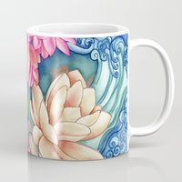 koi Mugs featuring Koi Pond by Vikki Salmela