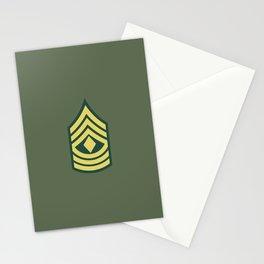 1st Sergeant (OD Green) Stationery Cards