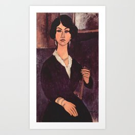 "Amedeo Modigliani ""Almaiisa Seated"" Art Print"
