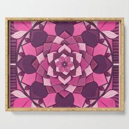Mandala Flower Tiles Serving Tray