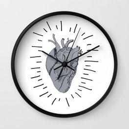 Radiant Heart Wall Clock