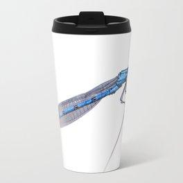 Blue damselfly Enallagma cyathigerum Travel Mug