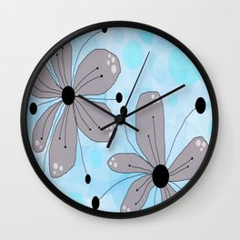 FLOWERY IZA / ORIGINAL DANISH DESIGN bykazandholly Wall Clock