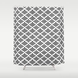 LUNA DIAMOND BLCK AND WHITE BY SUBGRL Shower Curtain