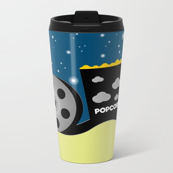 Movie night  Metal Travel Mug