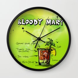 BloodyMary_002_by_JAMFoto Wall Clock