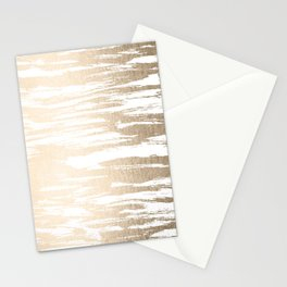 White Gold Sands Paintbrush Stationery Cards