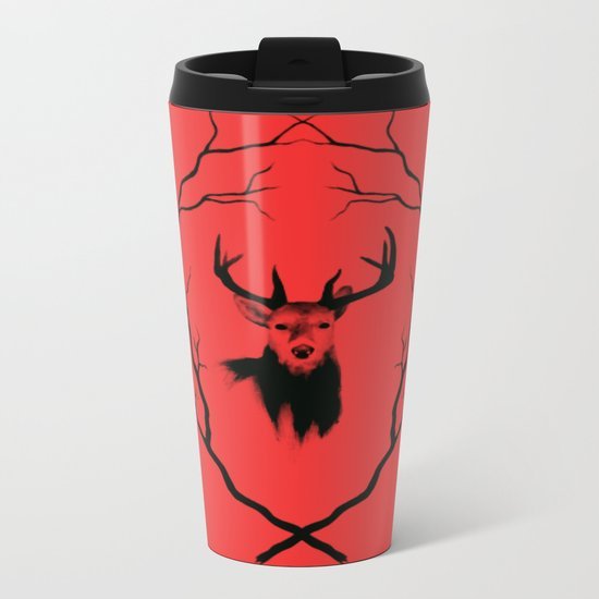 Red deer  Metal Travel Mug