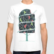 The Winter Tree MEDIUM Mens Fitted Tee White